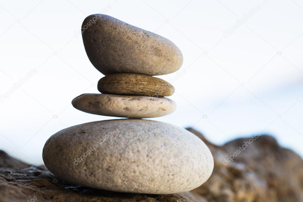 Pyramid of stones