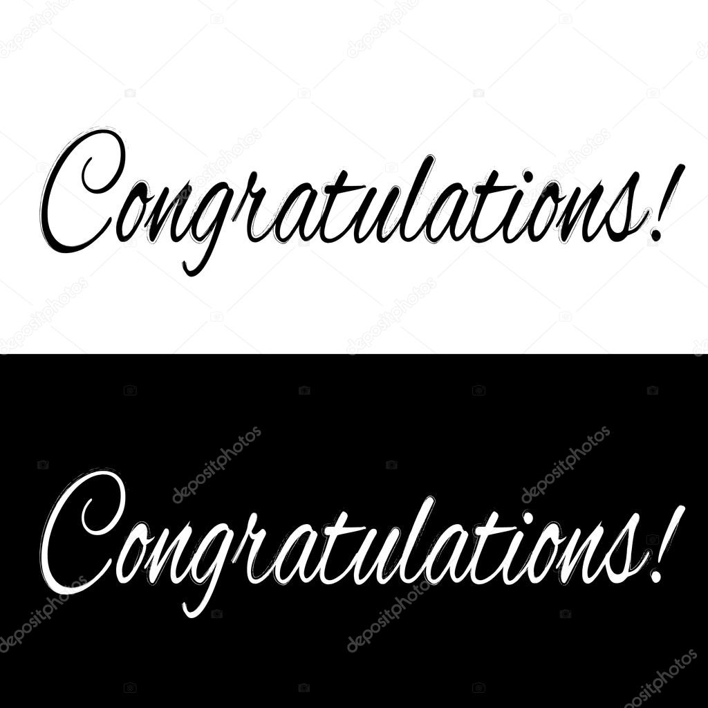 black and white congratulations banner stock vector zarian 72429373
