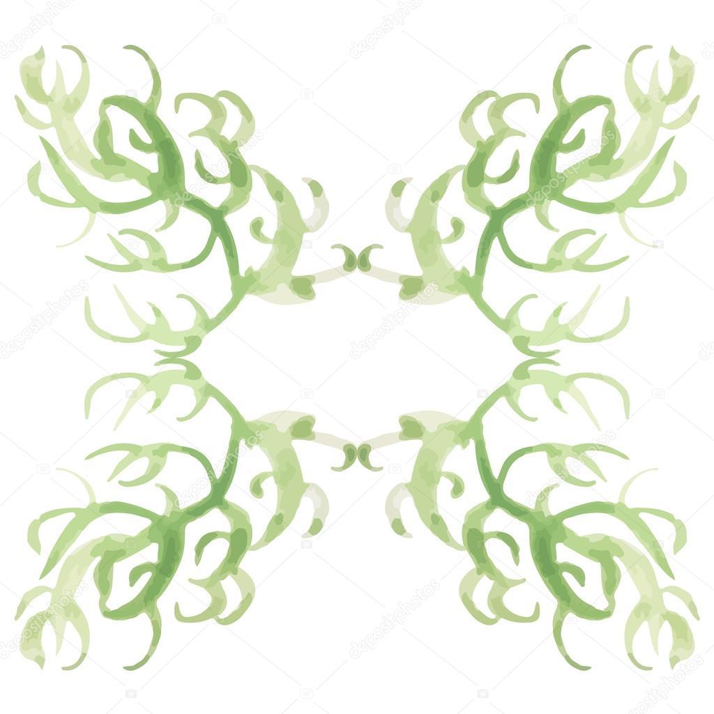 Aquarell Blumen Hand malen Rahmen — Stockvektor © Zarian #88284116