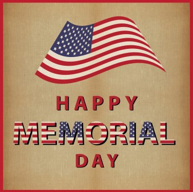 happy memorial day usa vintage