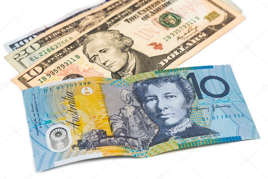 Avustralya Doları Para Birimi Not Bize Doları Karşısında Yakın