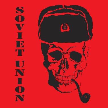 Vector skull. Soviet Union