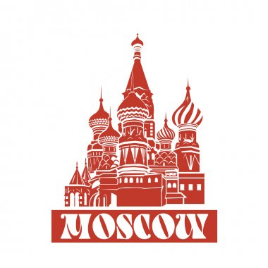 Vector Moscow Saint Basils Cathedral.
