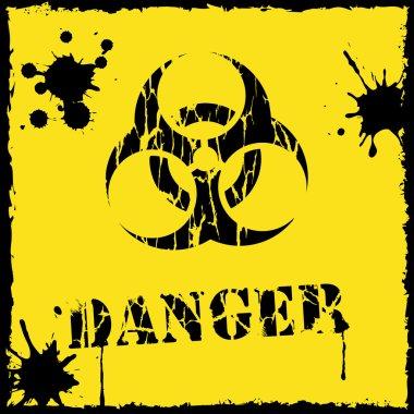 Danger biohazard icon