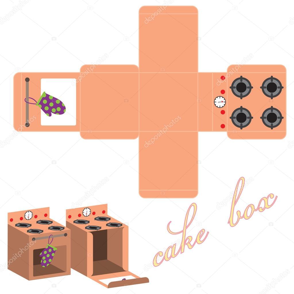 plantilla de la caja para pastel — Vector de stock © FamilyF #65688391