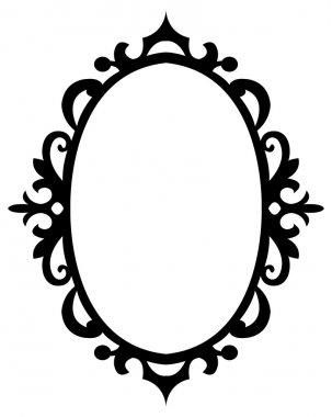 Oval  floral decorative frame