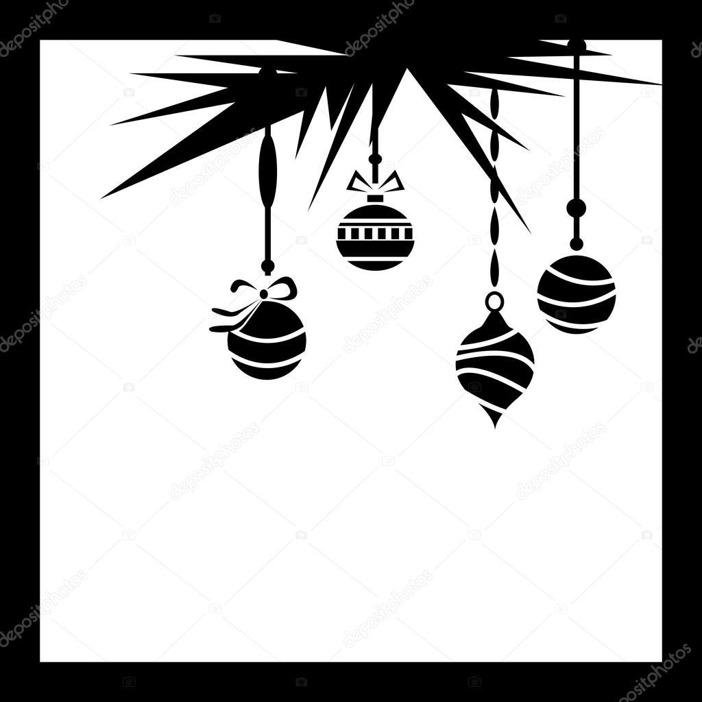 marco de adornos de Navidad — Archivo Imágenes Vectoriales © FamilyF ...