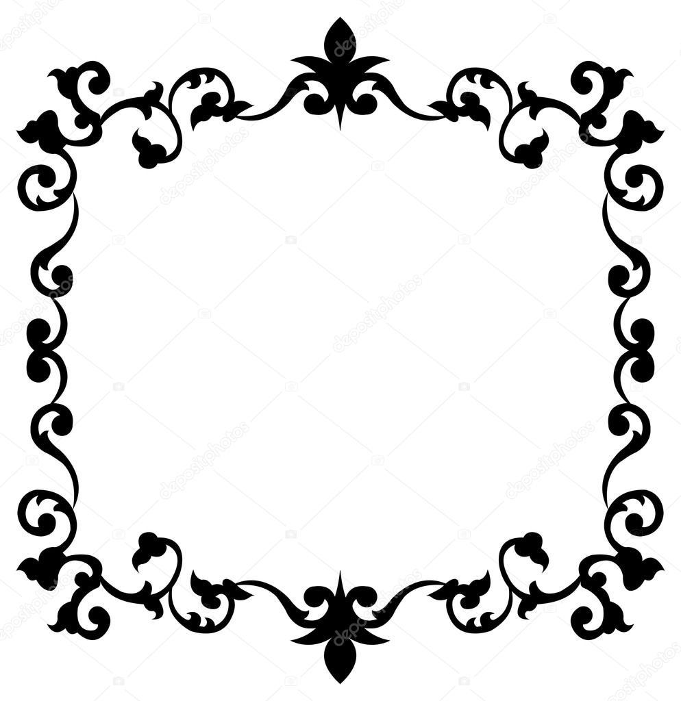 marco decorativo vintage — Archivo Imágenes Vectoriales © FamilyF ...