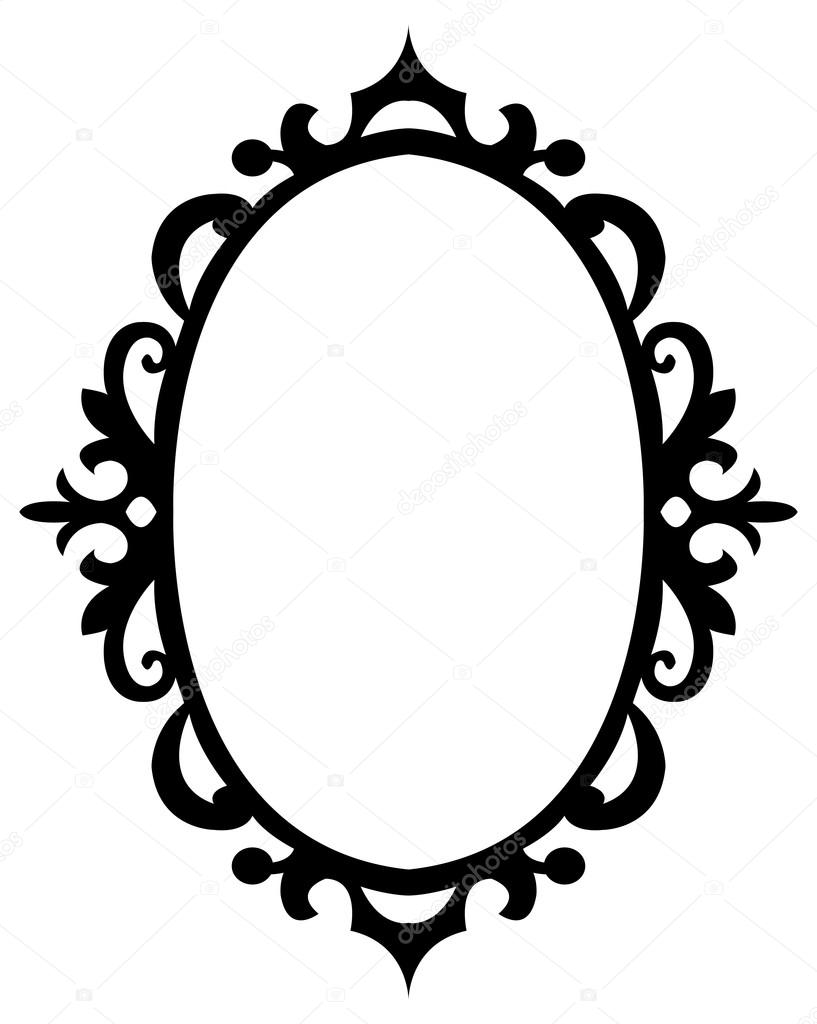 Oval floral decorative frame stock vector familyf 66725713 oval floral decorative frame vector illustration black and white vector by familyf junglespirit Image collections