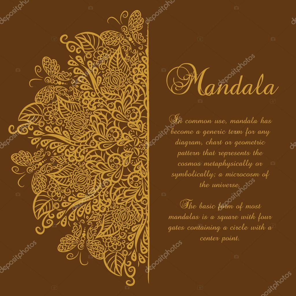 Золотая открытка вектор