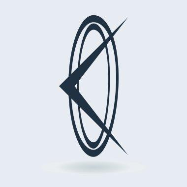 Design arrow logo element.