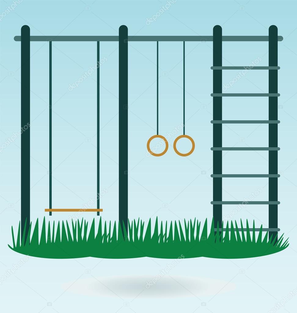 Children's playground with swings