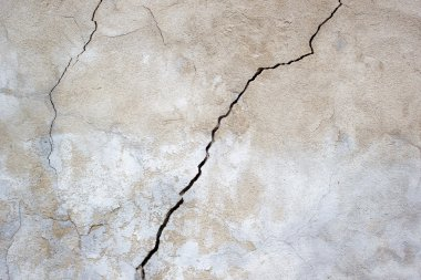 Grunge concrete cement wall with crack in industrial building, great for design and texture background