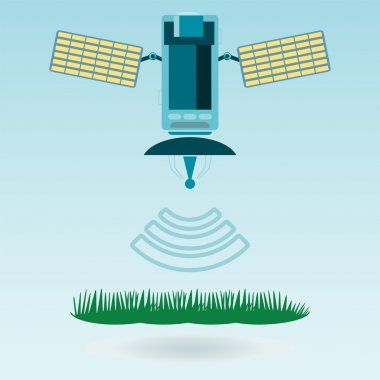 The satellite and satellite communications with solar cells