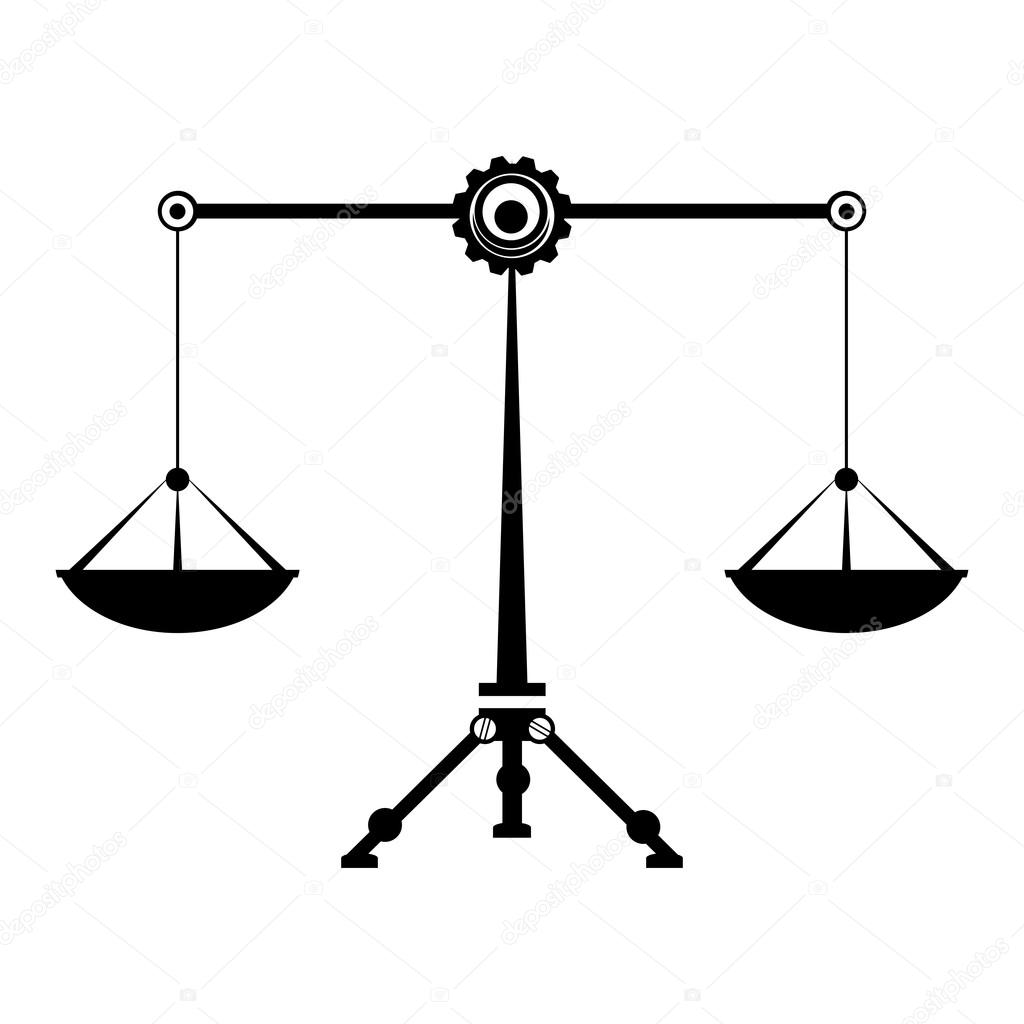 Law Balance Symbol Justice Scales Zodiac Signs Libra Stock Vector