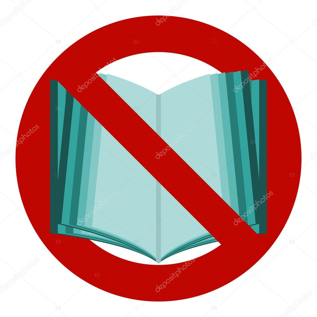 Do not read icon the symbol of the open book no stop banned the symbol of the open book no stop banned reading is forbidden vector by avdeev80 biocorpaavc Gallery