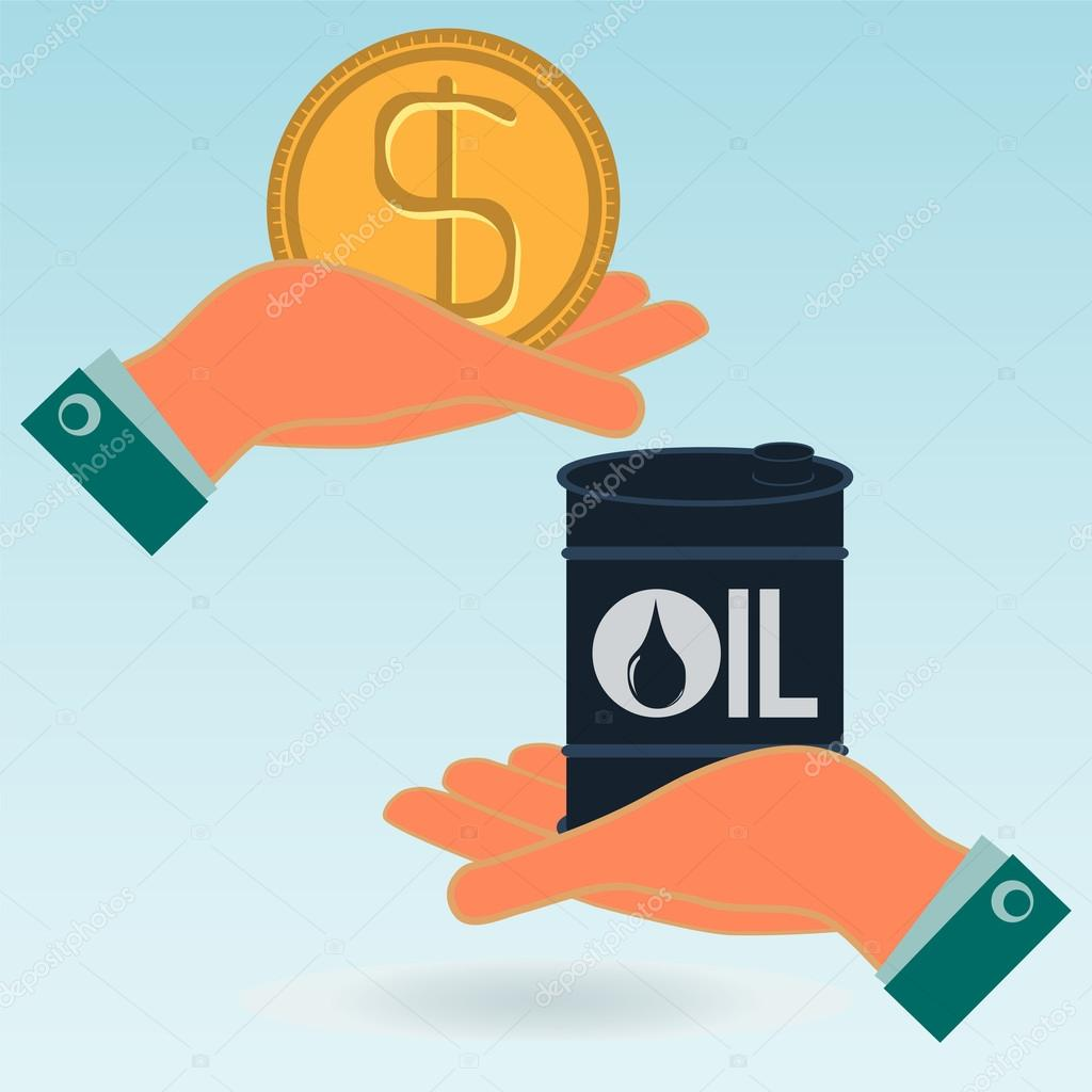 A barrel of oil and the dollar gold coin in hands oil market i a barrel of oil and the dollar gold coin in hands oil market i biocorpaavc Images