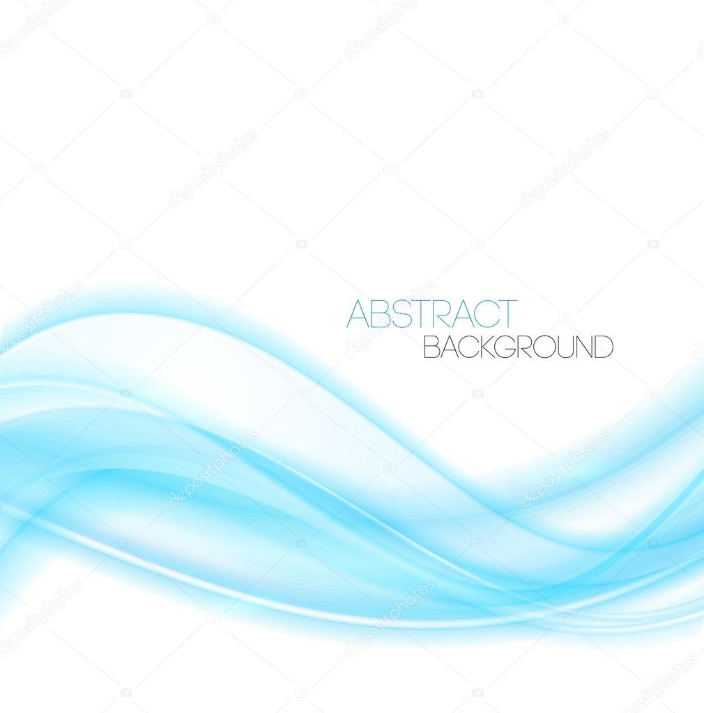 abstract blue curved lines background. template design — stock