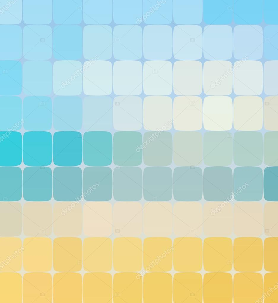 Summer color mosaic background. Vector illustration. — Stock Vector ...