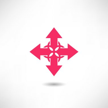 Pink crossed Arrows icon