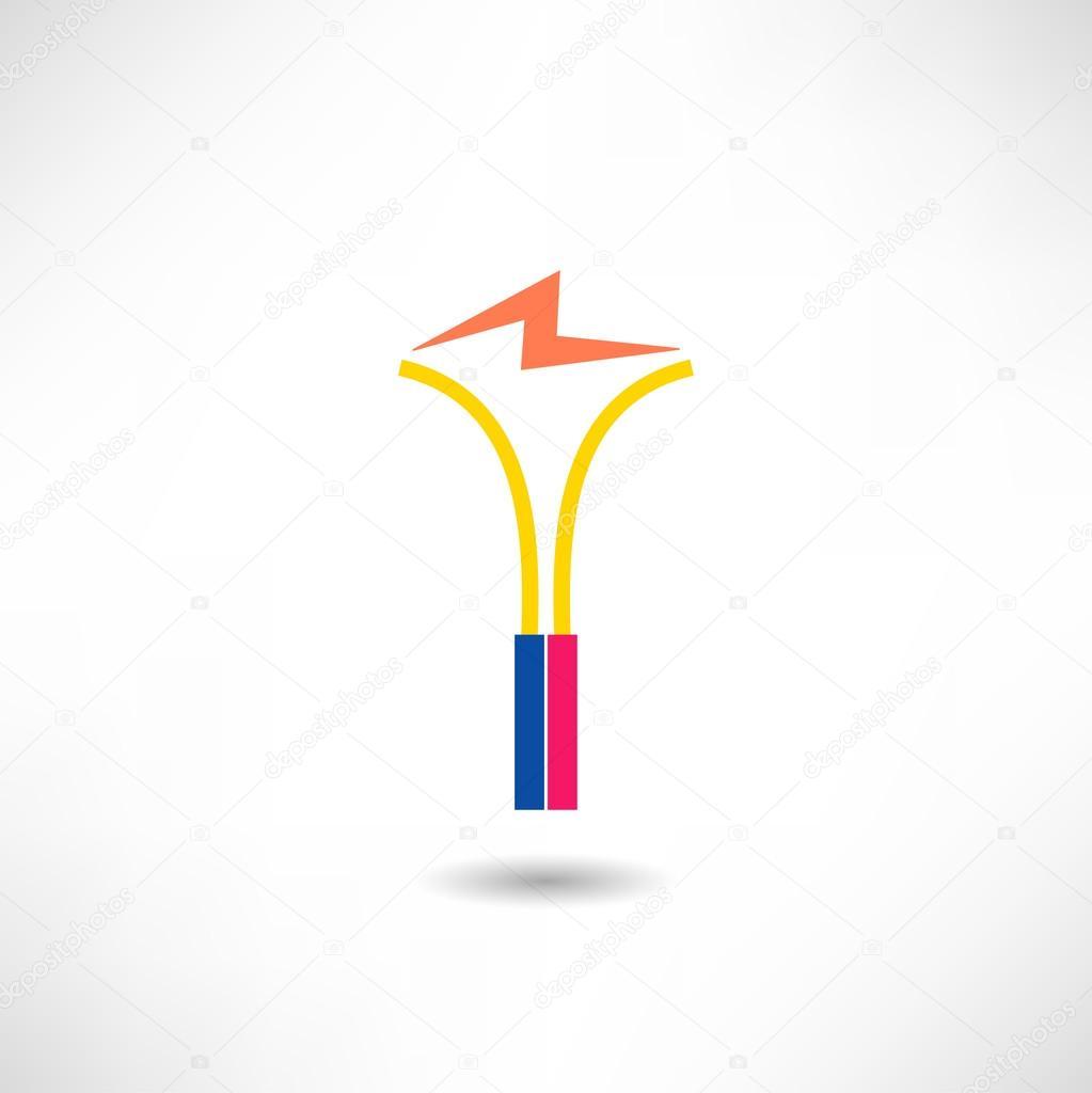 Elektrische Funken-Symbol — Stockvektor © Alexandrovskyi #69637325