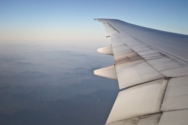 View from the window of the plane