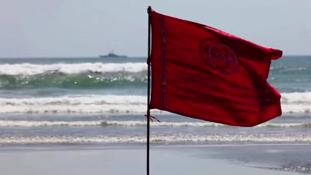 Warnsignal für eine rote Flagge