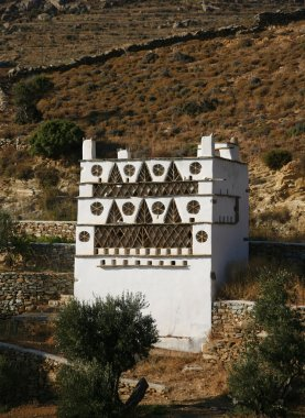 Traditional pigeon house in a mountain