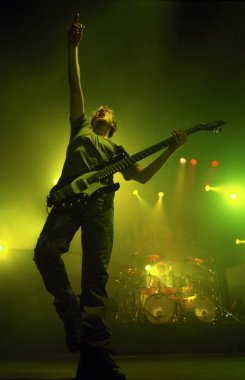DENVERDECEMBER 27:Bassist Dave Ellefson of the Heavy Metal band Megadeth performs December 27, 1999 at The Fillmore in Denver, CO.