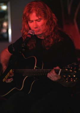 DENVERJANUARY 05:Guitarist/Vocalist Dave Mustaine of the Heavy Metal band Megadeth performs JANUARY 5, 2001 at the House of Rock  in Denver, CO.