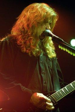DENVERDECEMBER 27:Guitarist/Vocalist Dave Mustaine of the Heavy Metal band Megadeth performs DECEMBER 27, 1999 at The Fillmore in Denver, CO.
