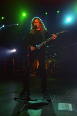 COLORADO SPRINGSAPRIL 05:Guitarist/Vocalist Dave Mustaine of the Heavy Metal band Megadeth performs in concert April 5, 2001 at the City Auditorium in Colorado Springs, CO.