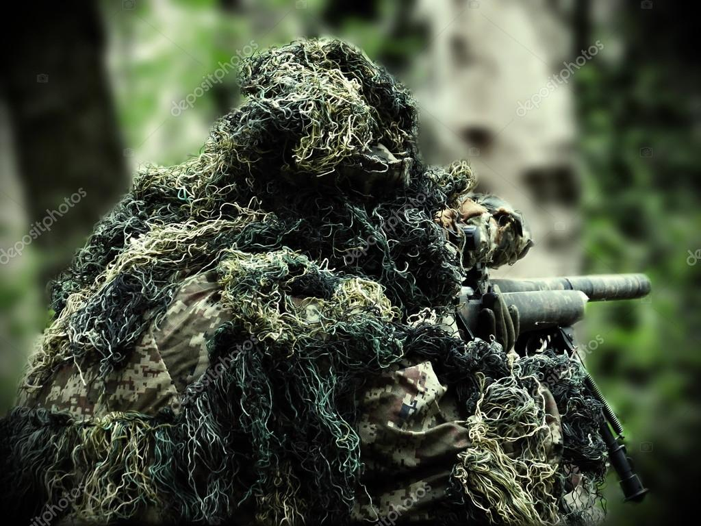 72 Ghillie Suit Wallpapers On Wallpaperplay: Airsoft Player With Ghillie Suit