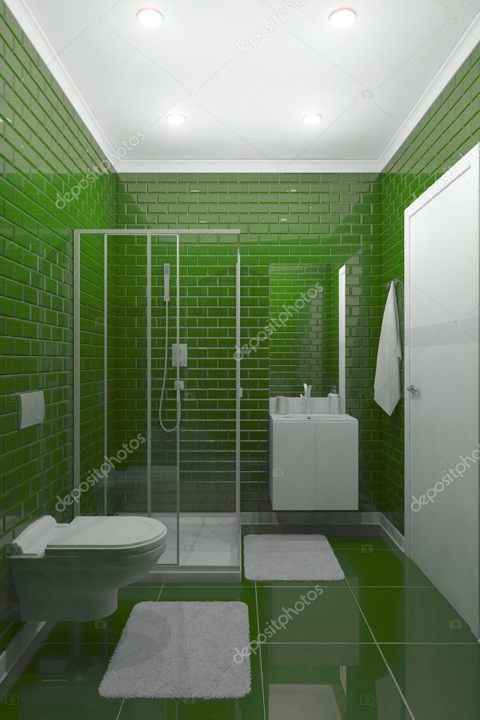 Badezimmer grün — Stockfoto © gamespiritlife #105114080