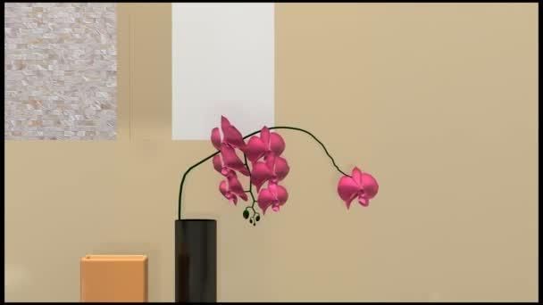 Koupelna s orchidej květina