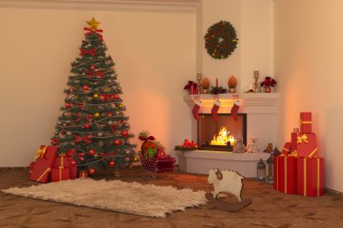 Christmas fireplace 2