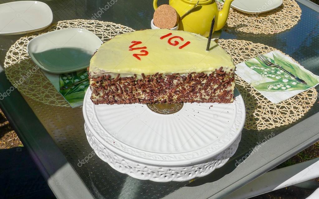 Swell Images Half Birthday Candle Half Year Chocolate Birthday Cake Funny Birthday Cards Online Drosicarndamsfinfo