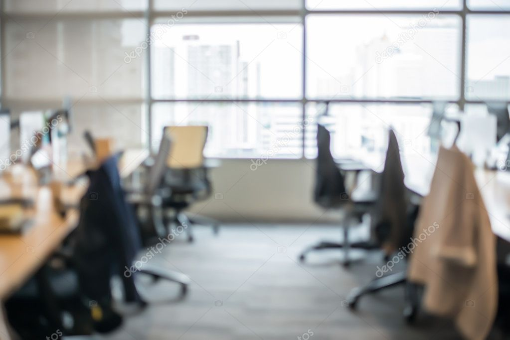 Astounding Abstract Office Blur Background With Wooden Desk Chair With Download Free Architecture Designs Embacsunscenecom