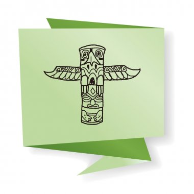 Totem Pole doodle vector illustration