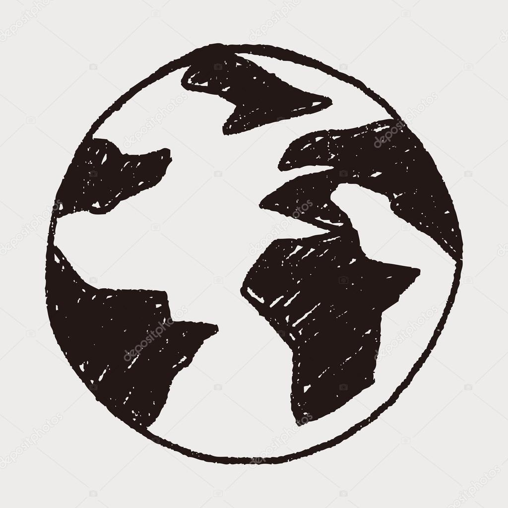 Doodle Globus Stockvektor Hchjjl 67050477