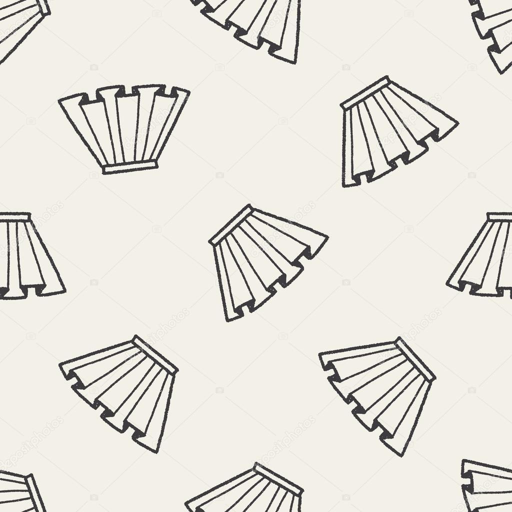 Doodle de fondo transparente de falda plisada — Vector de stock ...