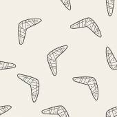 Photo boomerang doodle seamless pattern background