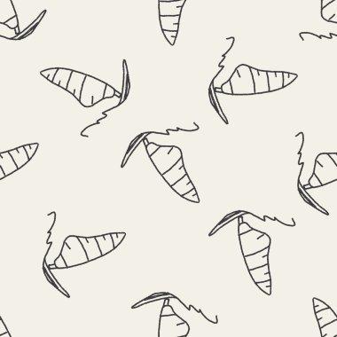 doodle windsurfing seamless pattern background