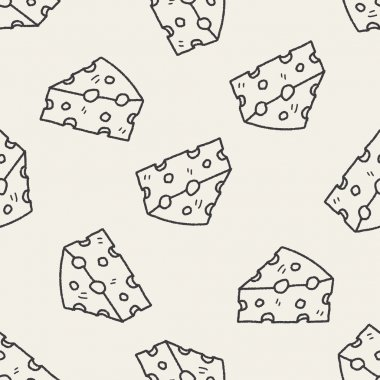 cheese doodle seamless pattern background