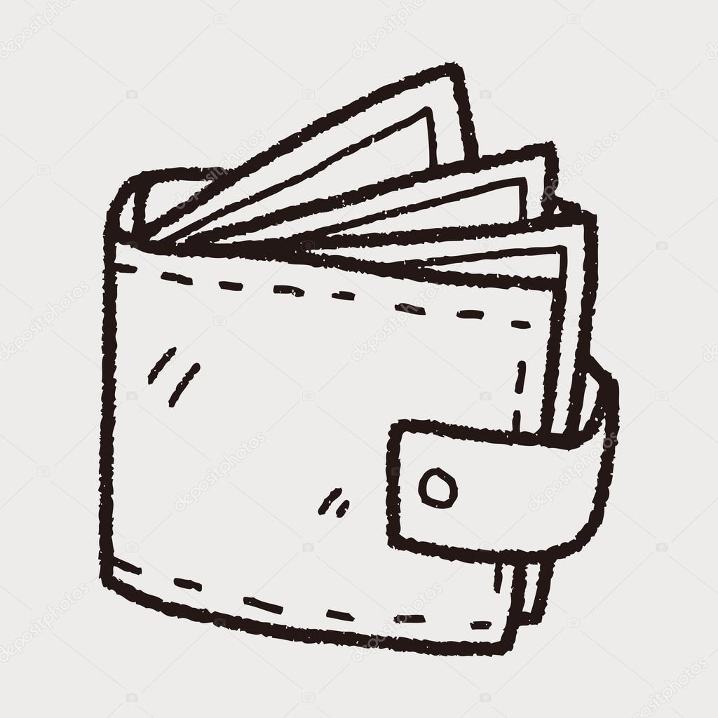 Dessin Porte Monnaie porte-monnaie doodle dessin — image vectorielle hchjjl © #71722999
