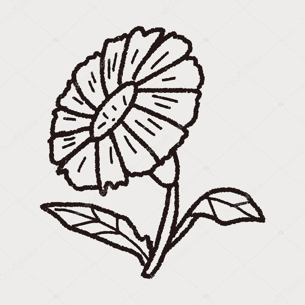 Pflanzenkritzelei — Stockvektor © hchjjl #73171203