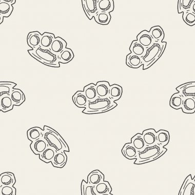 Knuckles doodle seamless pattern background