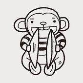 Doodle hračka opice