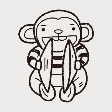 monkey toy doodle