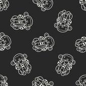 Monkey hračka doodle vzor bezešvé pozadí